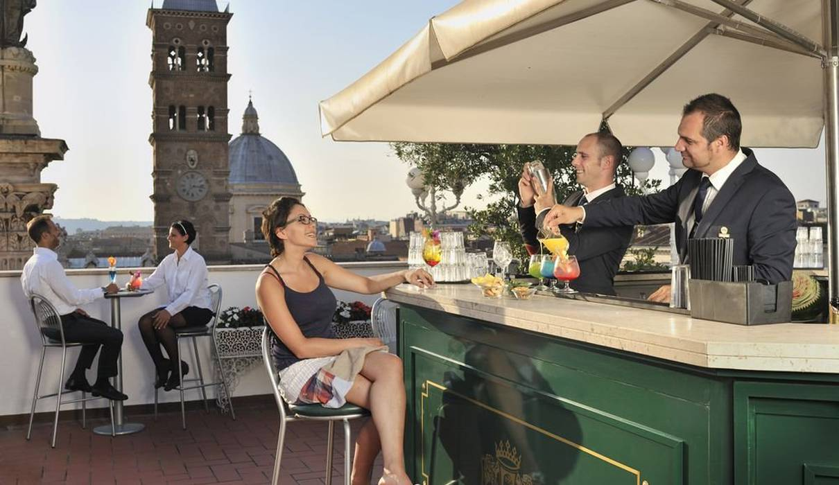 Sky bar Mecenate Palace Hotel Rome